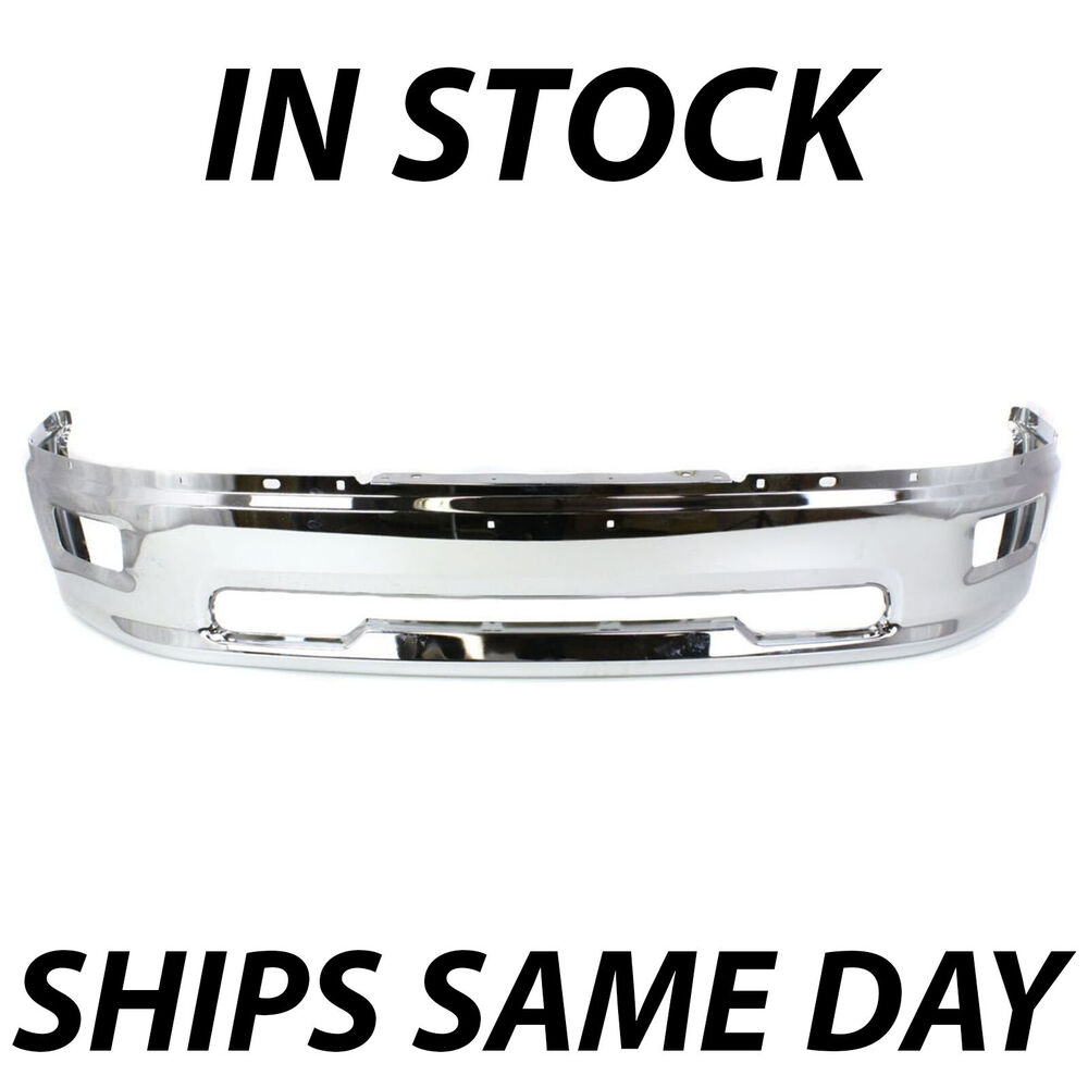 medium resolution of details about new chrome front bumper face bar for 2009 2010 2011 2012 dodge ram 1500 w fog
