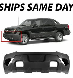 textured charcoal front bumper cover for 2003 2006 chevy avalanche w cladding ebay [ 1000 x 1000 Pixel ]