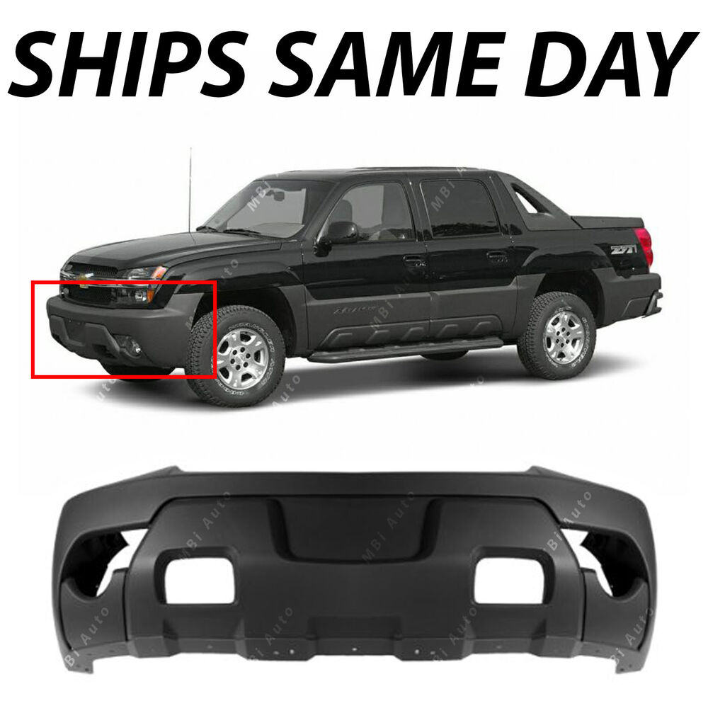 hight resolution of textured charcoal front bumper cover for 2003 2006 chevy avalanche w cladding ebay