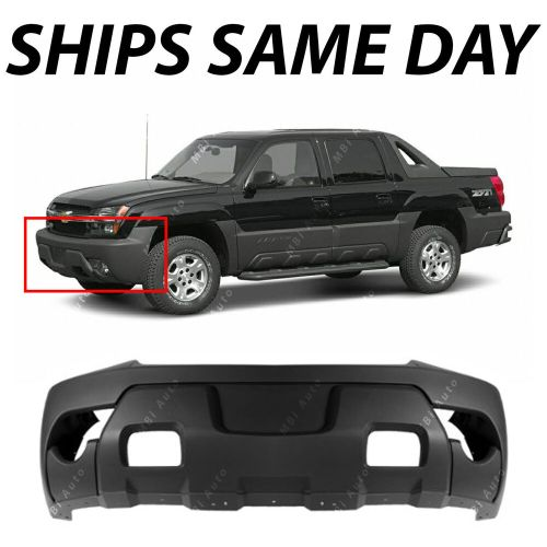 small resolution of textured charcoal front bumper cover for 2003 2006 chevy avalanche w cladding ebay