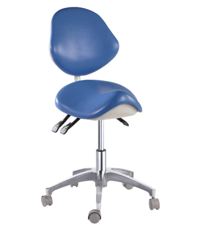 Standard Dental Mobile Chair Saddle Doctors Stool PU
