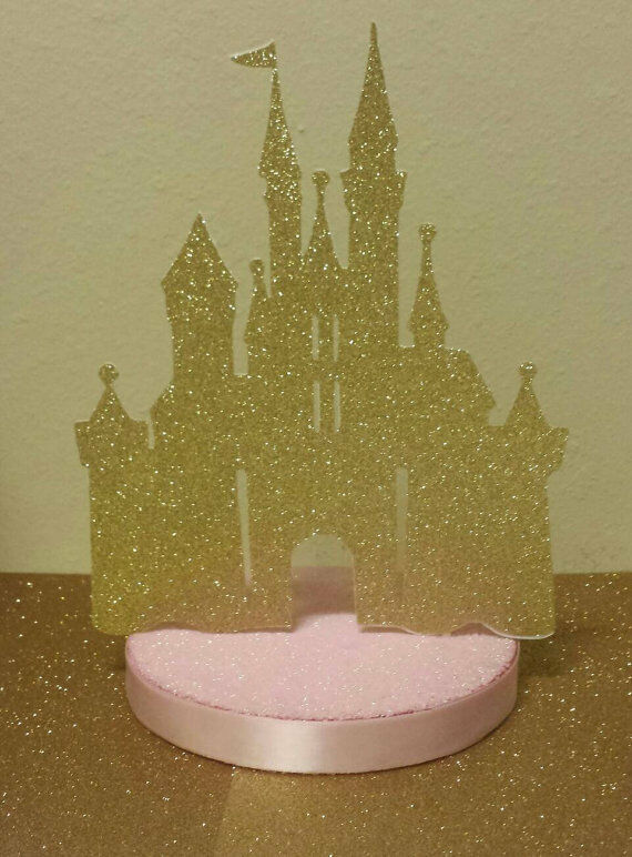 PRINCESS PINK GOLD GLITTER CASTLE BIRTHDAY PARTY BABY