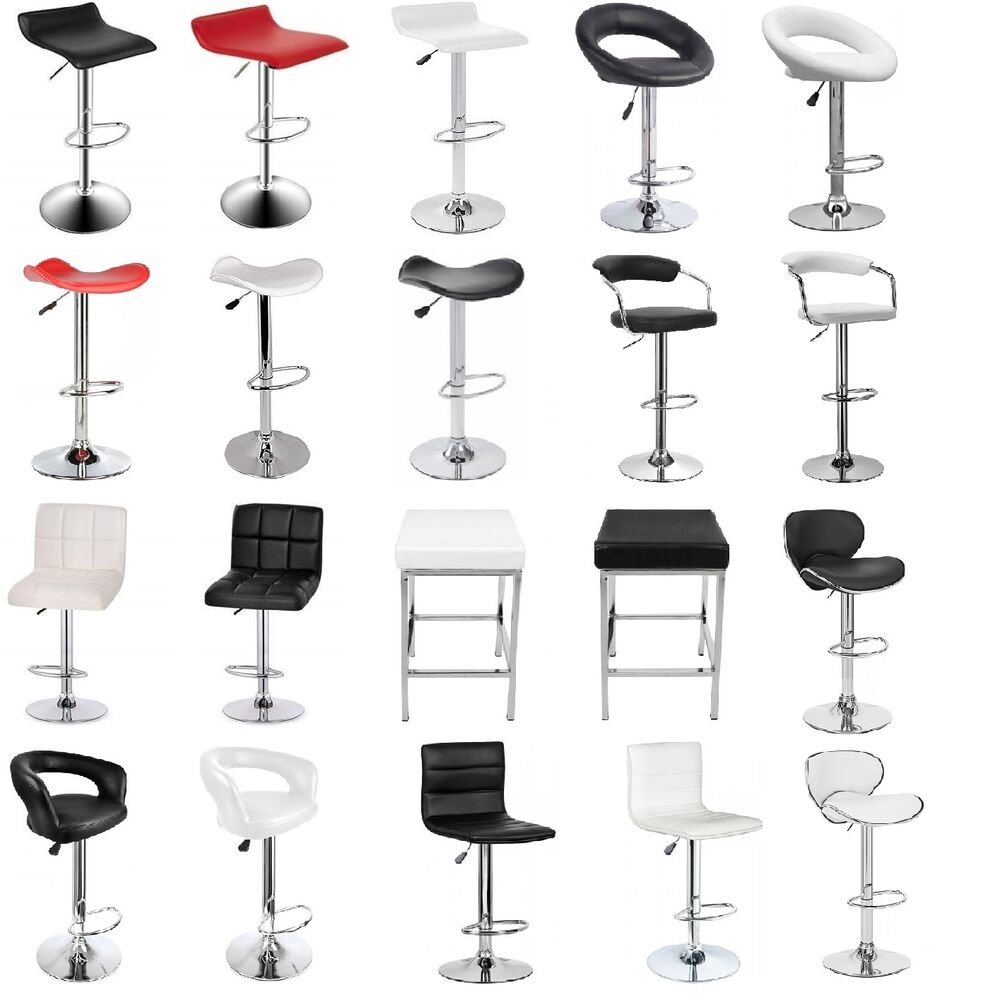4X New PU PVC Leather Bar Stool Kitchen Chair Gas Lift