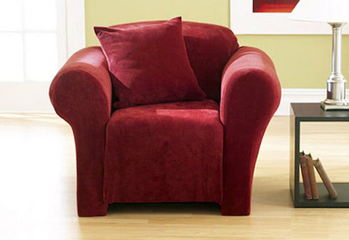 two cushion sofa slipcover zanotta alfa sure fit stretch pique one piece chair red ...