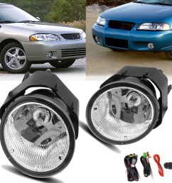 details about for 00 01 nissan maxima 00 03 sentra clear fog light front bumper lamps wiring [ 1000 x 1000 Pixel ]