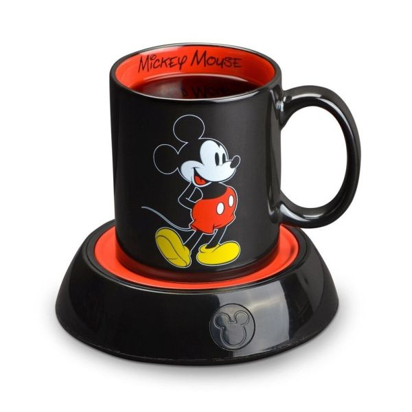 Coffee Mug Warmer Electric Desktop Heater With Mickey Mouse Cup Candle Hot Plate