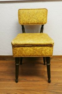 Mid-century Sewing Chair with Notions Box Under Seat | eBay