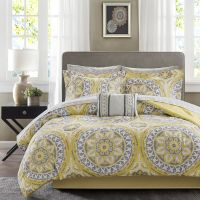 BEAUTIFUL MODERN TROPICAL EXOTIC BED IN A BAG YELLOW GREY ...