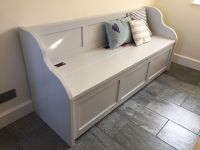 5ft Rustic Style Window Seat/Bench/Settle/Pew with Storage ...