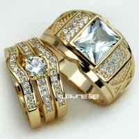 Couple Wedding Ring Set Gold ~ All the Best Ideas About ...