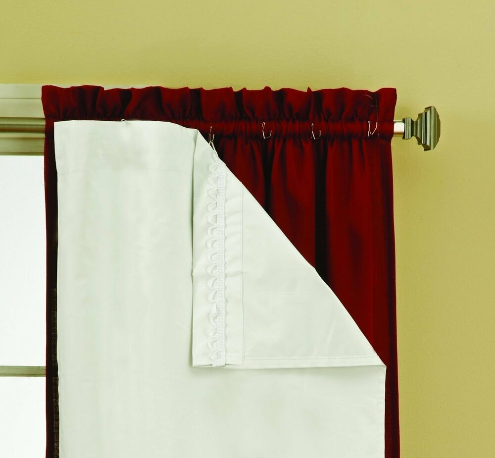Thermaliner Blackout Panel Pair White Curtain Liners 54x