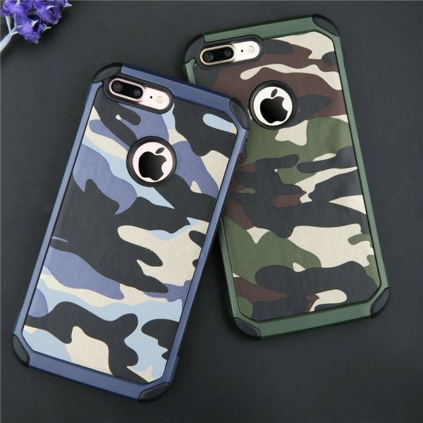 2 In 1 Army Camo Camouflage Hard Phone Case Cover