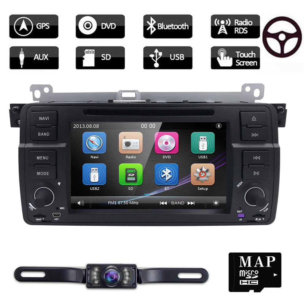 "Bmw M3 E46 7""u Dash Car Dvd Player Gps Navigation"