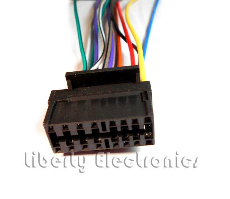 sony cdx l350 wiring diagram sonic electronix l250 for library new wire harness l300 ebaysony