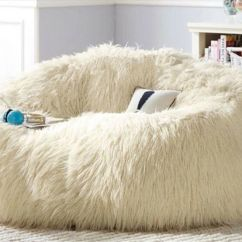 Where To Buy Bean Bag Chairs Chair Mould Design Large Shaggy Faux Fur Beanbag Cover Plush 140cm(d) White | Ebay