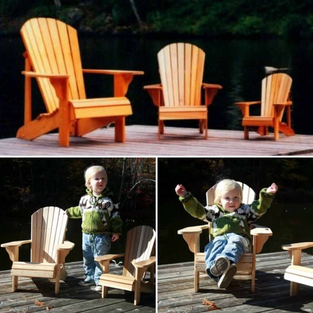 adirondack chair plan wicker wingback chairs 4 pack of plans (adult,youth,junior,child) - full size patterns | ebay