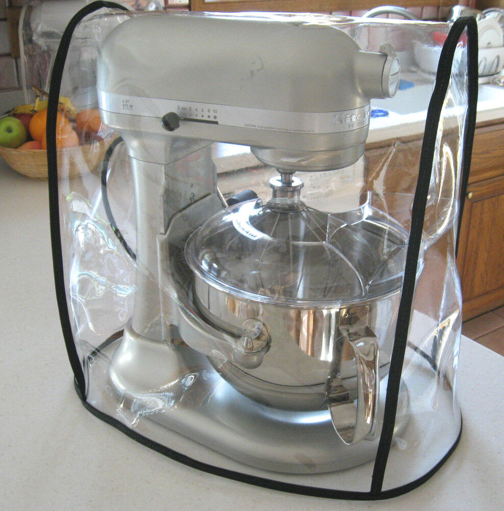 kitchen aid 5 qt mixer large island with seating clear cover fits kitchenaid bowl lift - black trim ...