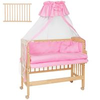 Wooden Bedside Cot Variable Height Nursery Furniture Baby