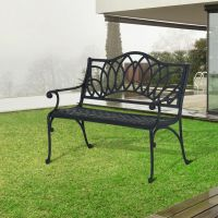 Outsunny Garden Bench Long Chair Park Seat Antique ...