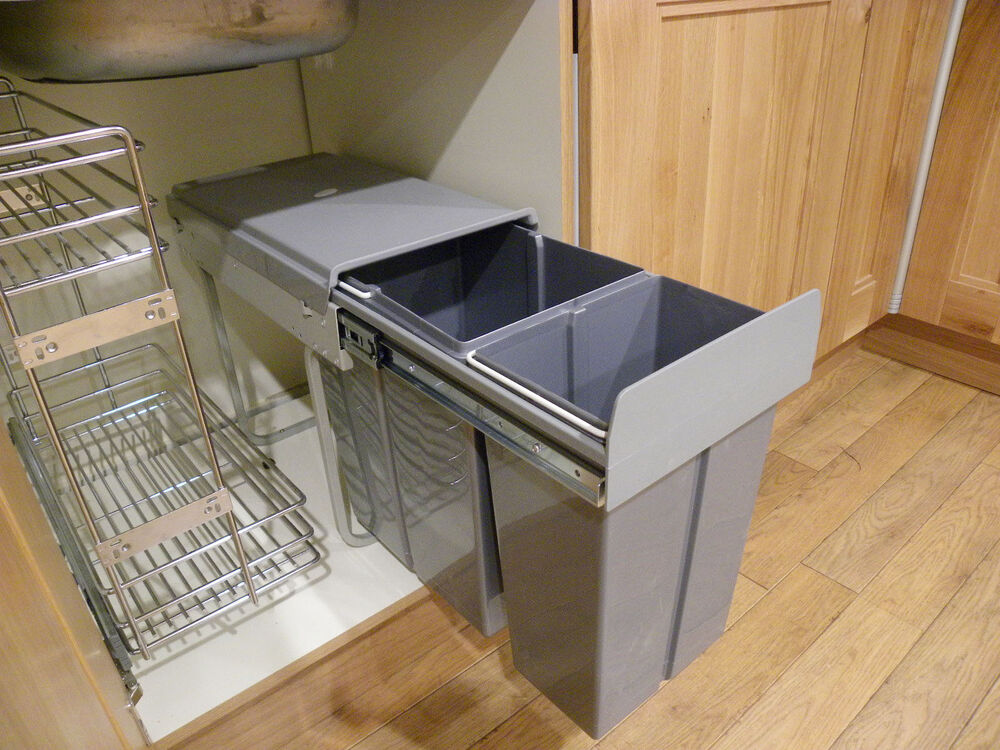 New 40L (2X20) Pull Out Kitchen Waste Bin / Recycle Bin
