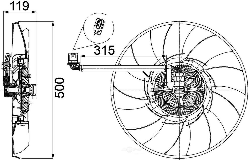 Engine Cooling Fan Clutch fits 06-09 Land Rover Range