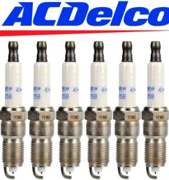 details about 6 genuine 41 990 acdelco oem 12597464 set of 6 platinum spark plugs [ 1000 x 1000 Pixel ]
