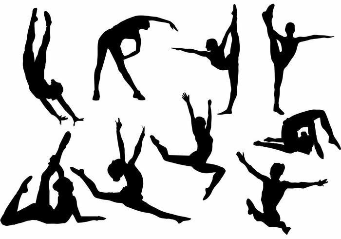 9 Gymnastic Silhouettes Edible ** A4 ICING SHEET ** Cake