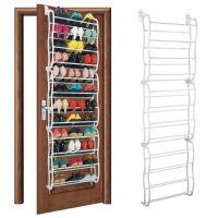 36 Pair Over Door Hanging Shoe Rack Holder Stand 12Tier ...
