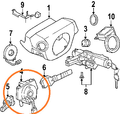 NEW CLOCK SPRING +2 WIRES FITS FOR NISSAN QUEST 2007 2008