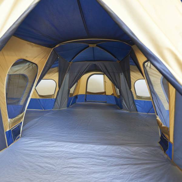 Family Camping Tent 14-person Cabin Sewn-in Room Dividers 4 Rooms