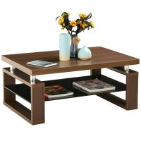 Coffee End Table Rectangle Modern Living Room Furniture w ...