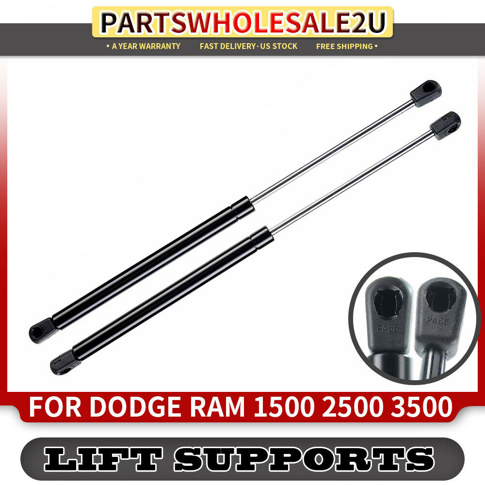 2 Hood Lift Supports Shock Struts for Dodge Ram 1500 2500