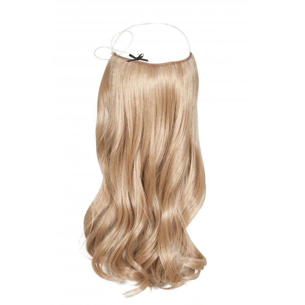 Fits like a halo Hair Extension Human Remy Flip On crown wire 20 long  eBay