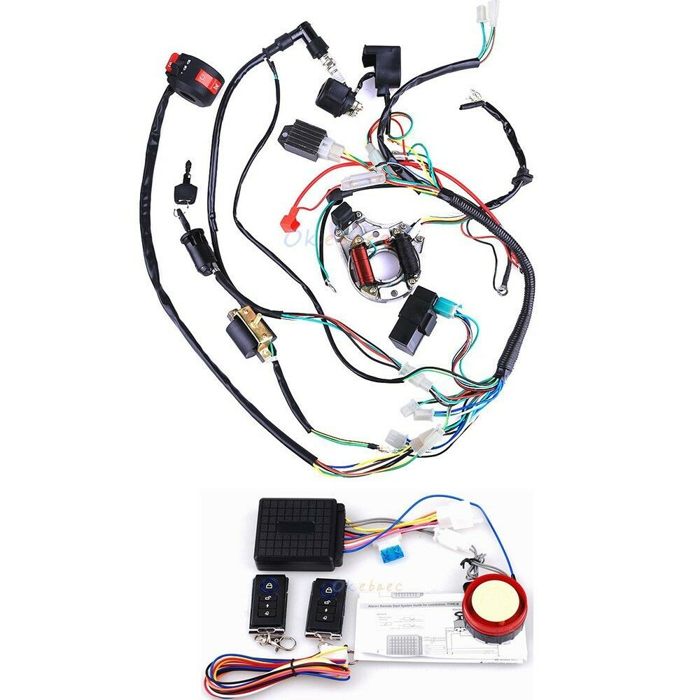 hight resolution of details about electrics atv stator 50cc 70 110cc 125cc cdi wiring harness remote start switch