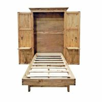 Solid Wood Murphy Hideaway Twin Bed