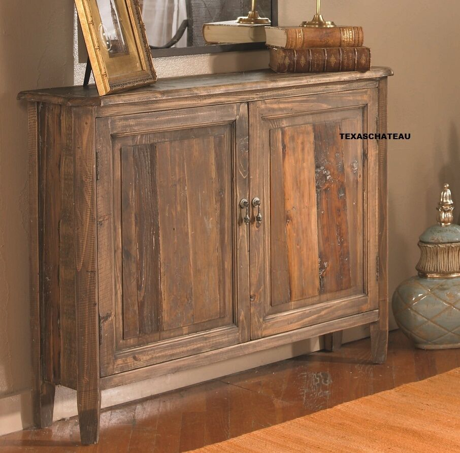 10 D NARROW FARMHOUSE WOOD CABINET CONSOLE CHEST ENTRY TABLE FRENCH COUNTRY NEW  eBay