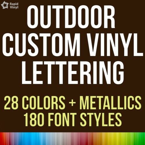 Custom Outdoor Vinyl Lettering Decal Car Truck Boat Jeep