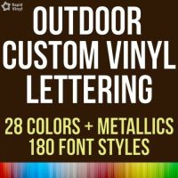 Custom Outdoor Vinyl Lettering Decal Car Truck Boat Jeep ...