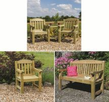 Elda Solid Wood Outdoor Furniture Garden Dining Set Table