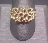 Newly Arrived 10k Yellow Gold Nugget Style Pinky Casual