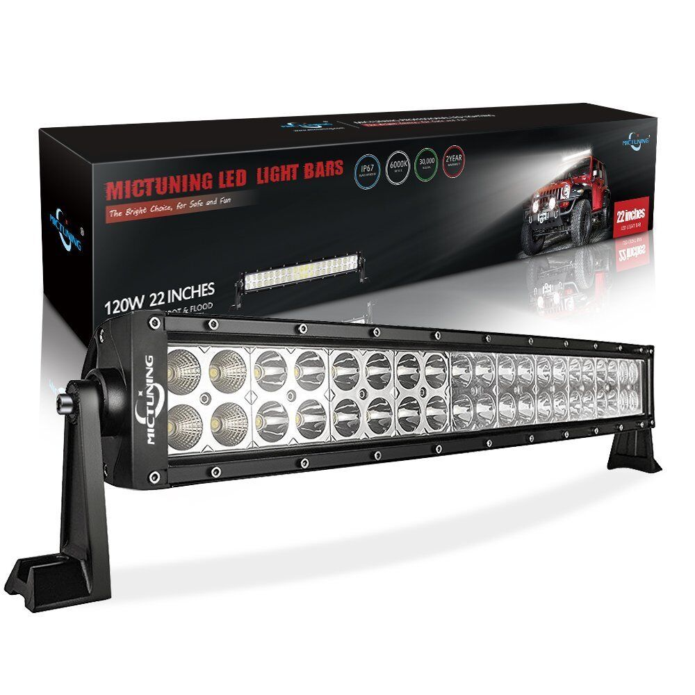Led Work Light Bar Combo Off Road Lamp With 12ft Rocker Switch Wiring