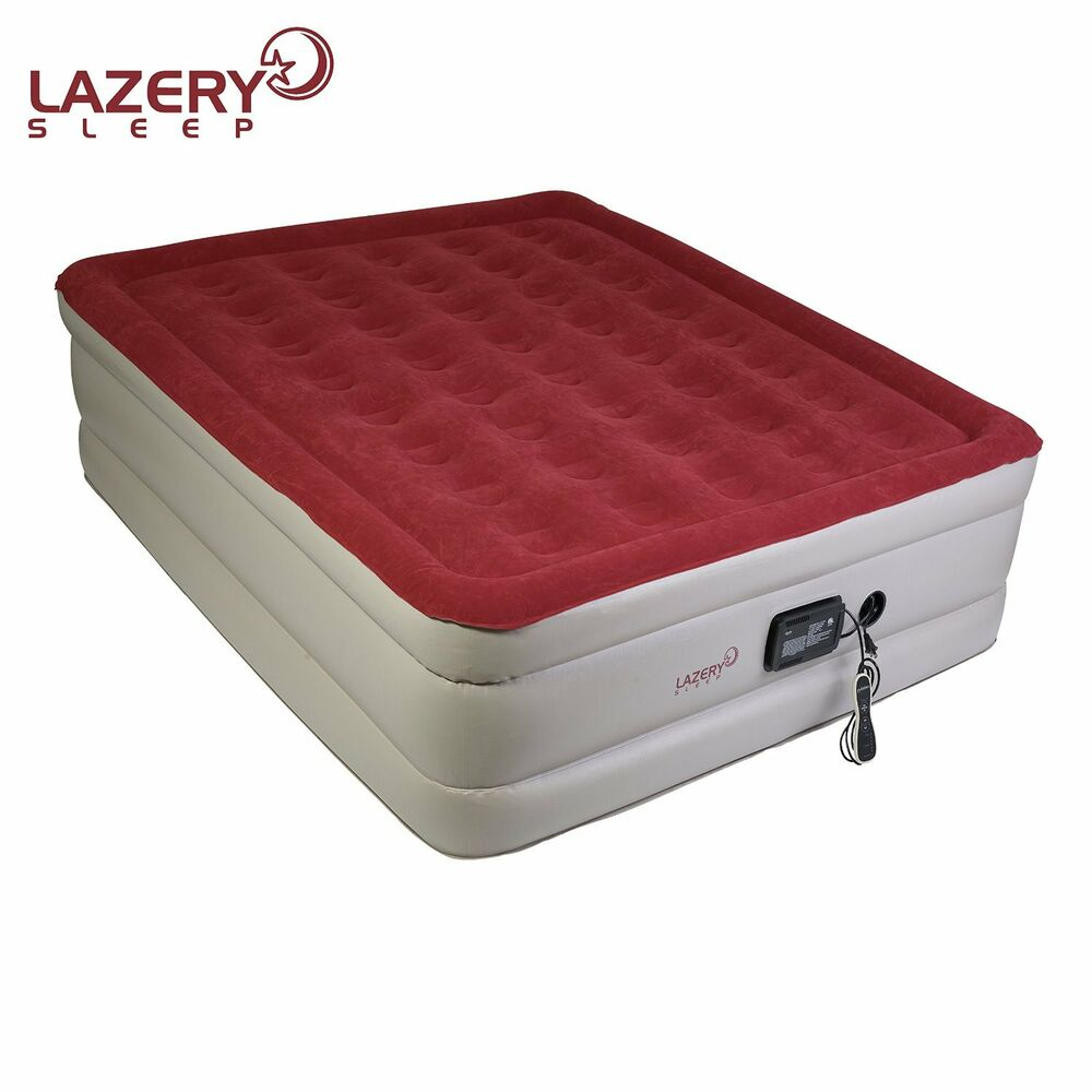 Lazery Sleep inflatable QUEEN Air Mattress  Airbed with BuiltIn Electric Pump  eBay
