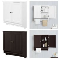 Bathroom Cabinet Storage Espresso Wall Mount Over Toilet ...