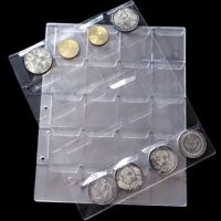 1 Sheets 20 Pockets Transpare New Plastic Coin Holder ...