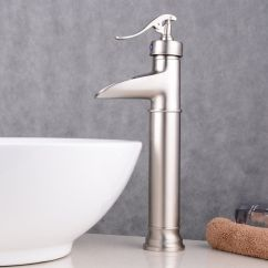 Ebay Kitchen Faucets Appliance Packages Stainless Steel Brushed Nickel Sink Faucet Bathroom One Hole Handle Mixer ...