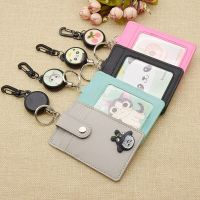 Leather ID Badge Card Holder Anime Kpop EXO BTS Lanyard