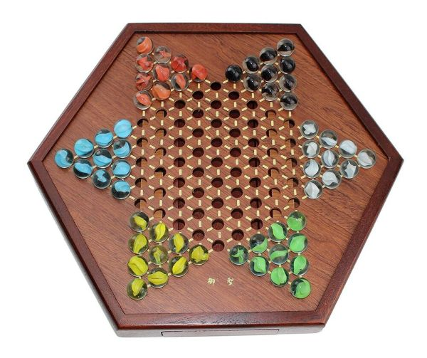 Board Games Chinese Checkers Wooden Game Set Drawers And