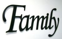 Family Metal Sign in Black- Metal Wall Art Home Decor ...