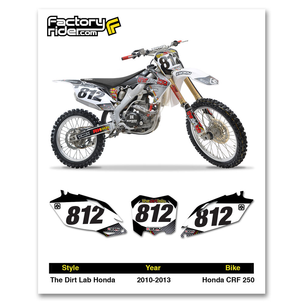 2010-2013 HONDA CRF 250 The Dirt Lab Dirt Bike Graphics