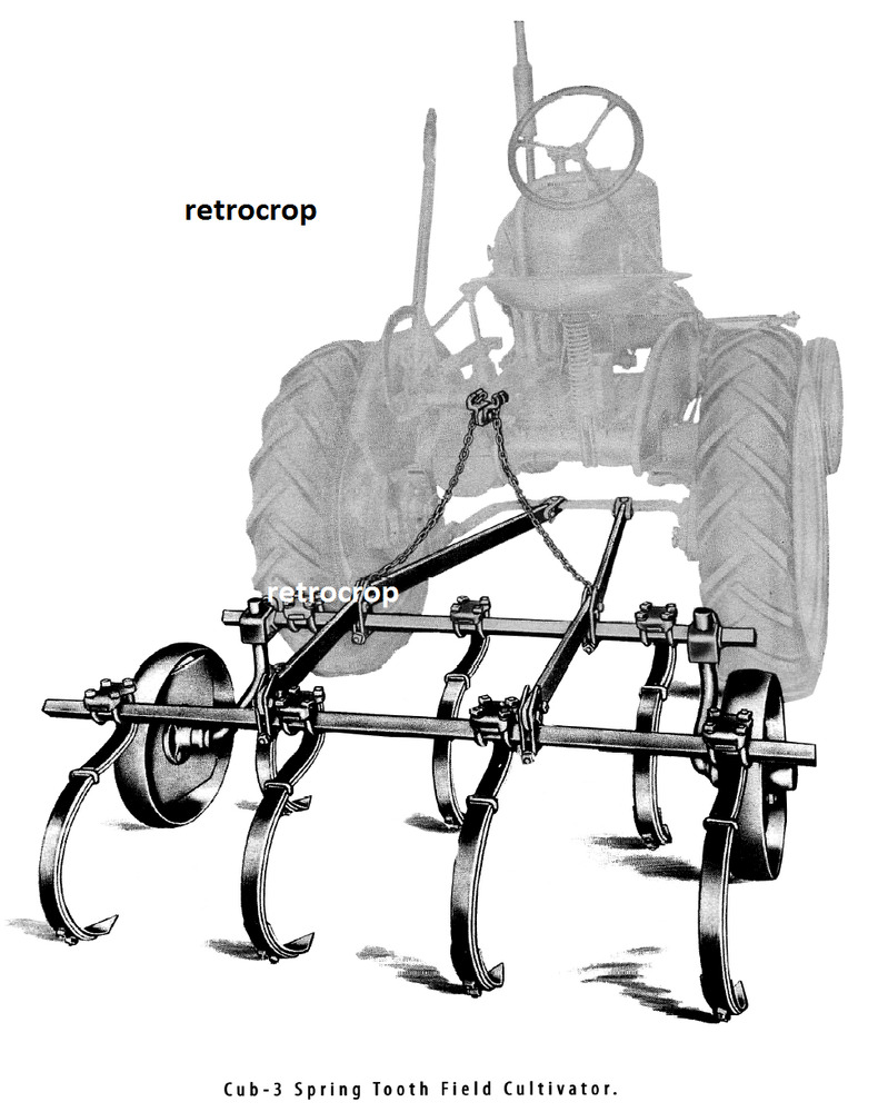 hight resolution of details about ih farmall cub 3 direct connect spring tooth field cultivator owner s manual cub